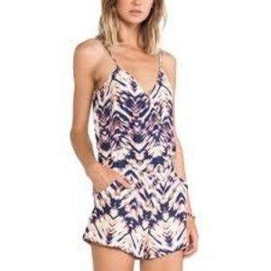 Parker Deep Sea Sunrise Silk Romper